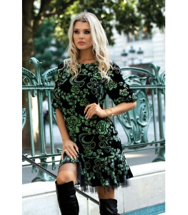 DRESS OLIWIA FLOWERS GREEN