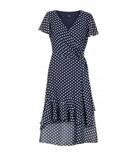 DRESS CELESTYNA DARK BLUE PEA