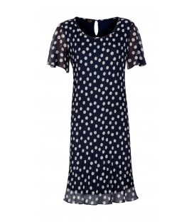 DRESS CHIARA DARK BLUE PEA