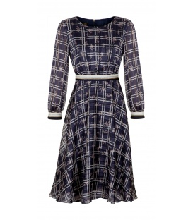 DRESS BELEN DARK BLUE