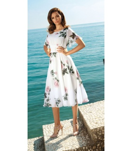 DRESS JULIETTE ECRU ROSES