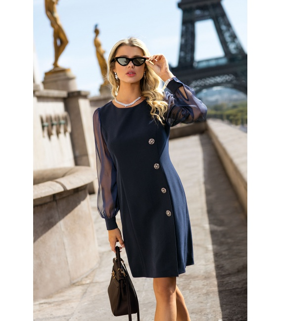 DRESS RINA DARK BLUE