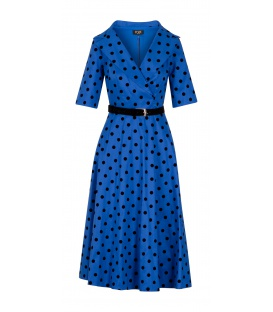 DRESS CHARLOTTE CORNFLOWER PEA