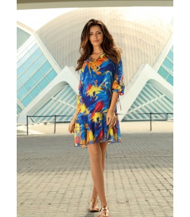 DRESS LAVINIA CORNFLOWER