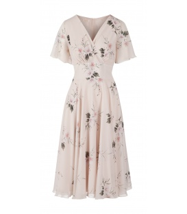 DRESS JULIETTE II BEIGE FLOWERS