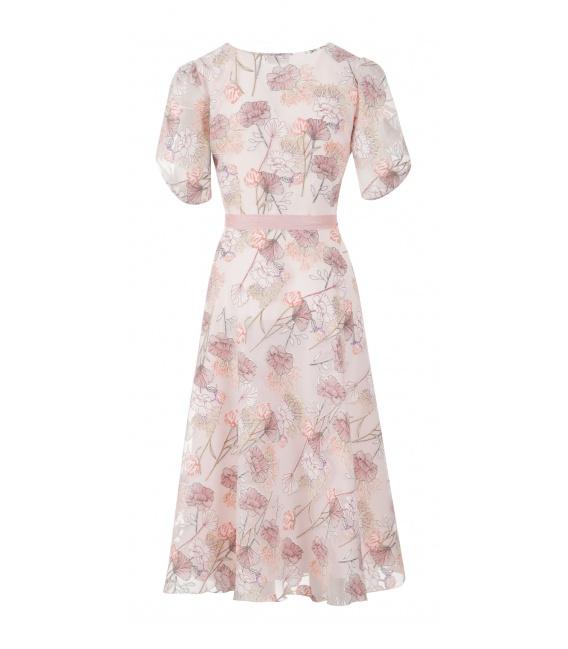 DRESS SCARLET FLOWERS