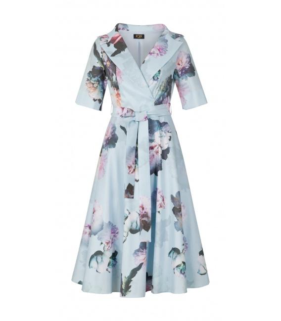DRESS CHARLOTTE BLUE FLOWERS