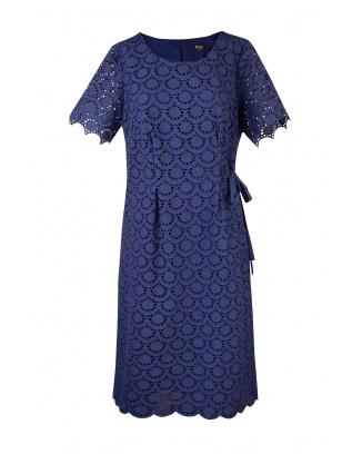DRESS LEA DARK BLUE