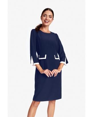 DRESS CONTENSSA NAVY BLUE